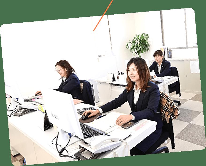 女性スタッフが約70%
